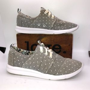 TOMS Del They Polka Dot Lace Up Women's Sneakers -6